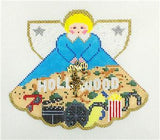 Angel~ Hollywood Angel with Charms hand painted Needlepoint Canvas Ornament~by Painted Pony **MAY NEED TO BE SPECIAL ORDERED**