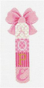 Candy Stick ~ Breast Cancer Pink Candy Stick HOPE handpainted Needlepoint Canvas by Kelly Clark