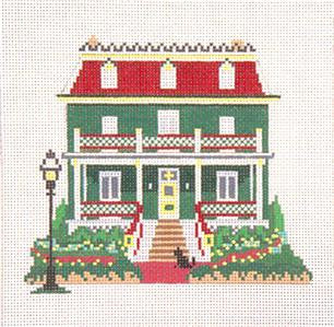 Canvas House~Inn on the Ocean, Cape May, NJ handpainted Needlepoint Canvas~by Needle Crossings