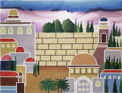 Canvas~Rebecca Shore Tallis Bag with City and Wailing Wall Backdrop ***Exclusive***