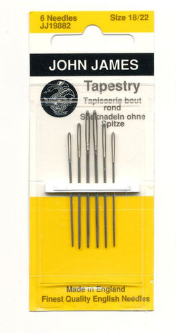 John James English Tapestry Needles sizes 18 to 22