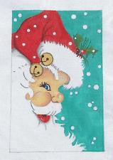 Christmas~ Jolly Santa Face Canvas by Raymond Crawford **SPECIAL ORDER**