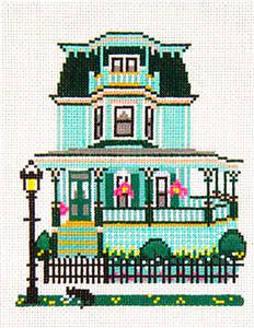 Canvas House~Kelly's Celtic Inn, Cape May, NJ handpainted Needlepoint Canvas~by Needle Crossings