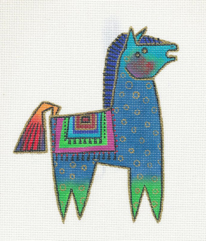 Laurel Burch Petite Pony #8 Handpainted Needlepoint Canvas by Danji Designs