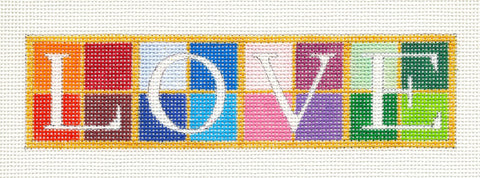Canvas~LOVE Bookmark handpainted Needlepoint Canvas by Raymond Crawford