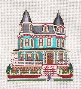 Canvas House~The Merry Widow Inn, NJ handpainted Needlepoint Canvas~by Needle Crossings