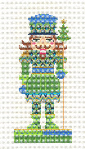 Kelly Clark Canvas – Nutcracker Ornament - Prince of Tides handpainted Needlepoint Canvas