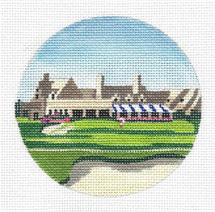 Round-Winged Foot, New York GOLF Course HP Needlepoint Canvas by Purple Palm