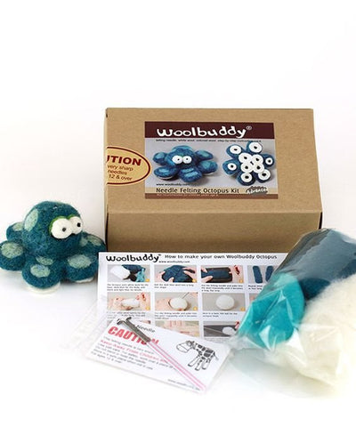 Woolbuddy Needle Felting Kit - Octopus