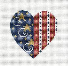 Heart Patriotic Red, White & Blue w/ Stars by Danji~MAY NEED TO BE SPECIAL ORDERED