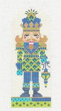 Kelly Clark ~ Nutcracker Ornament The Peacock Prince handpainted Needlepoint Canvas Ornament