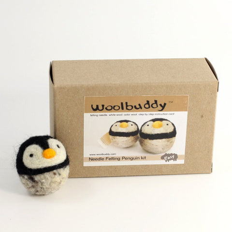 Woolbuddy Needle Felting Kit - Penguin