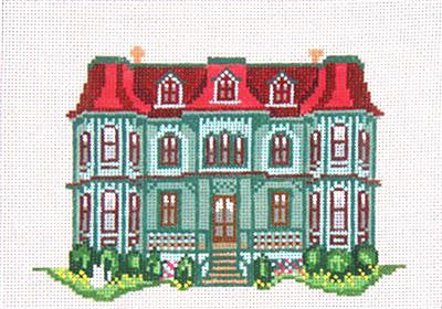 Canvas House~The Queen Victoria Inn, Cape May, NJ handpainted Needlepoint Canvas~by Needle Crossings