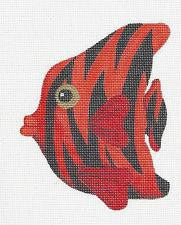 Fish~Red Tropical Fish handpainted Needlepoint Canvas by Raymond Crawford ***SP.ORDER***