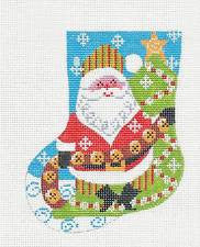 Mini Stocking-Santa with Bells  by Danji
