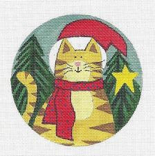 Round-Santa Cat ~L.Korsgaden by Danji Designs