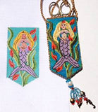 Scissor Case- Mazzy's Mermaid on Handpainted Needlepoint Canvas by Danji