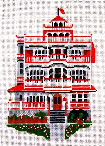 Canvas House~The Sea Mist Inn, Cape May, NJ handpainted Needlepoint Canvas~by Needle Crossings