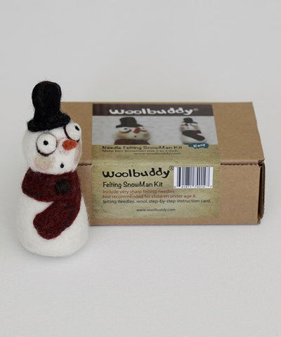 Woolbuddy Needle Felting Kit - Snowman