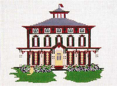 Canvas House~Southern Mansion, Cape May, NJ handpainted Needlepoint Canvas~by Needle Crossings