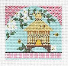 Kelly Clark Canvas –Spring Bee Hive handpainted Needlepoint Canvas ** SP. ORDER**