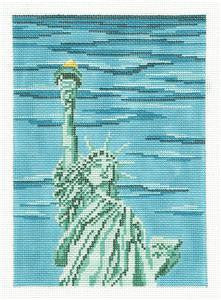 Canvas~STATUE OF LIBERTY handpainted Needlepoint Canvas by Needle Crossings