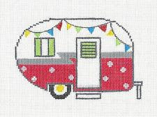 Canvas-Summer Camper Travel Trailer in Red & White from Danji