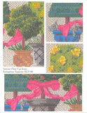Kelly Clark Canvas – Spring Topiaries & Stitch Guide  handpainted Needlepoint Canvas**SP. ORDER**