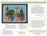 Kelly Clark Canvas– Wintertime Topiaries & Stitch Guide handpainted Needlepoint Canvas **SP. ORDER**