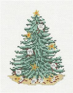 Canvas~ Christmas Tree Sand Dollars Tree handpainted Needlepoint Canvas~by Needle Crossings