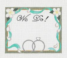 Canvas~WE DO!  Wedding handpainted Needlepoint Canvas by Raymond Crawford **SPECIAL ORDER**