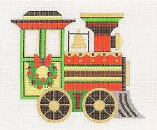 Christmas~ Train Engine Canvas & SG by Raymond Crawford