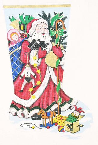 Stocking~ Full Size Kris Kringle handpainted Needlepoint Canvas