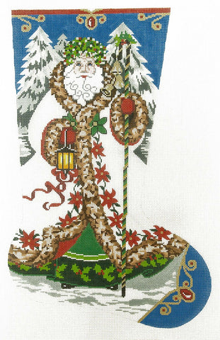 Stocking~ Full Size Elegant Santa #1 handpainted Needlepoint Canvas