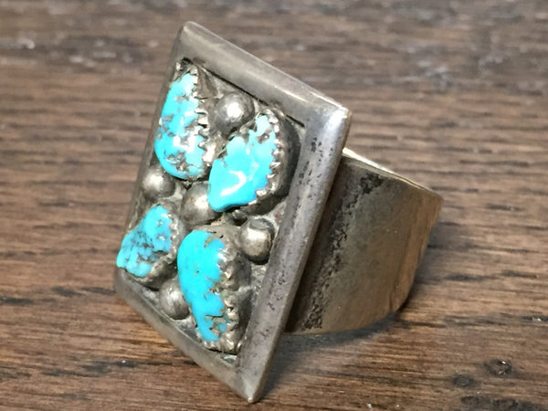 Patania Men's Turquoise Ring