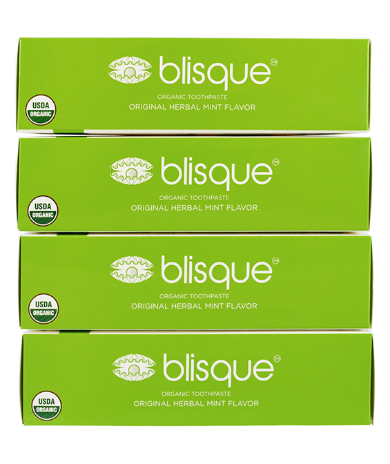 Blisque Organic Toothpaste - Herbal Mint Flavor