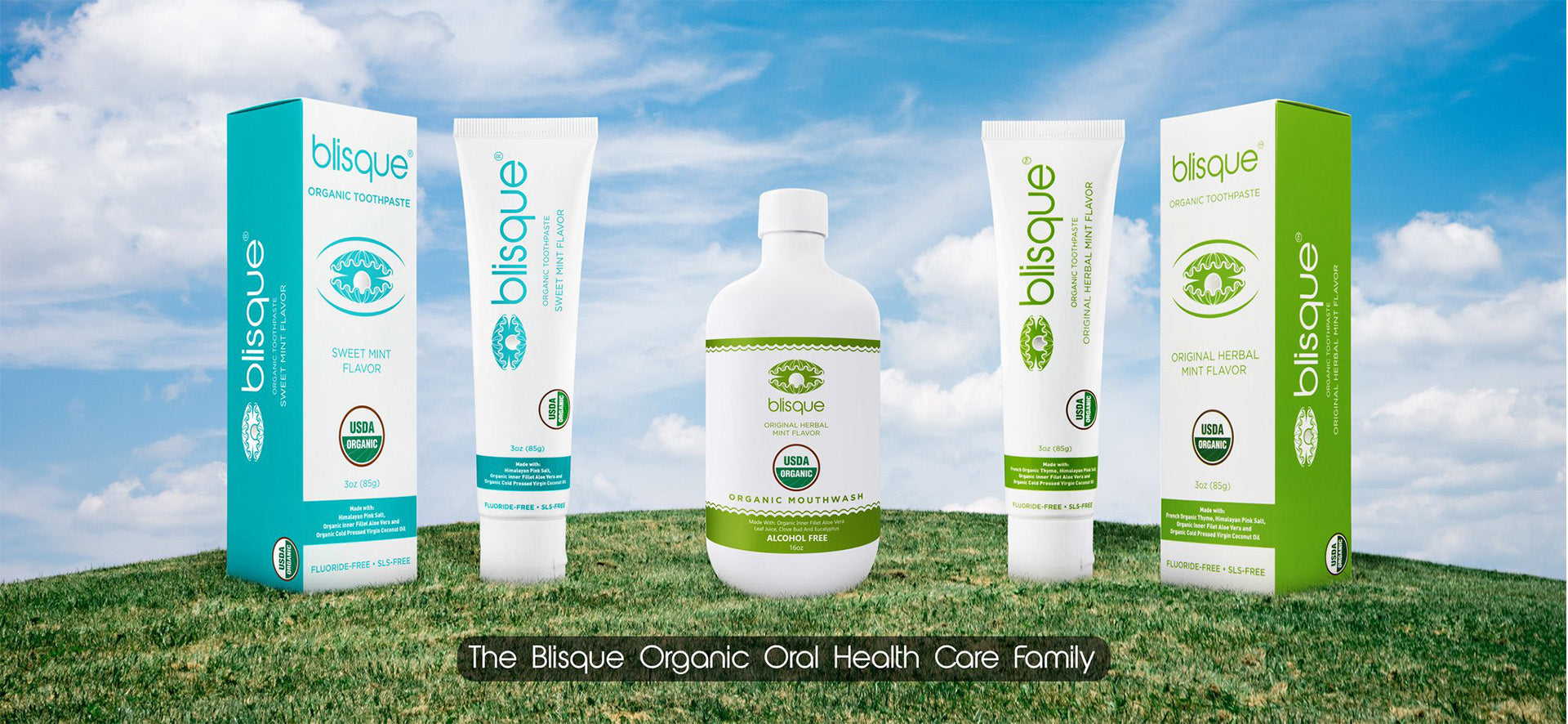 Organic Oral Health Care Family