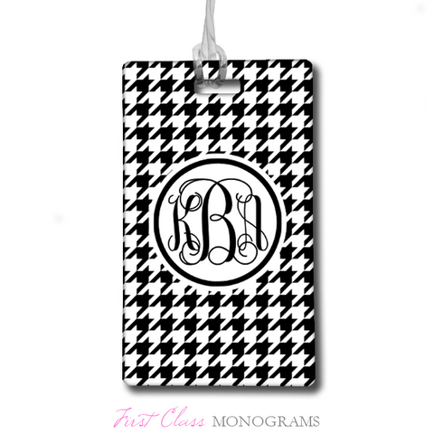 Classic Houndstooth Script Monogram Bag Tag – SALE!