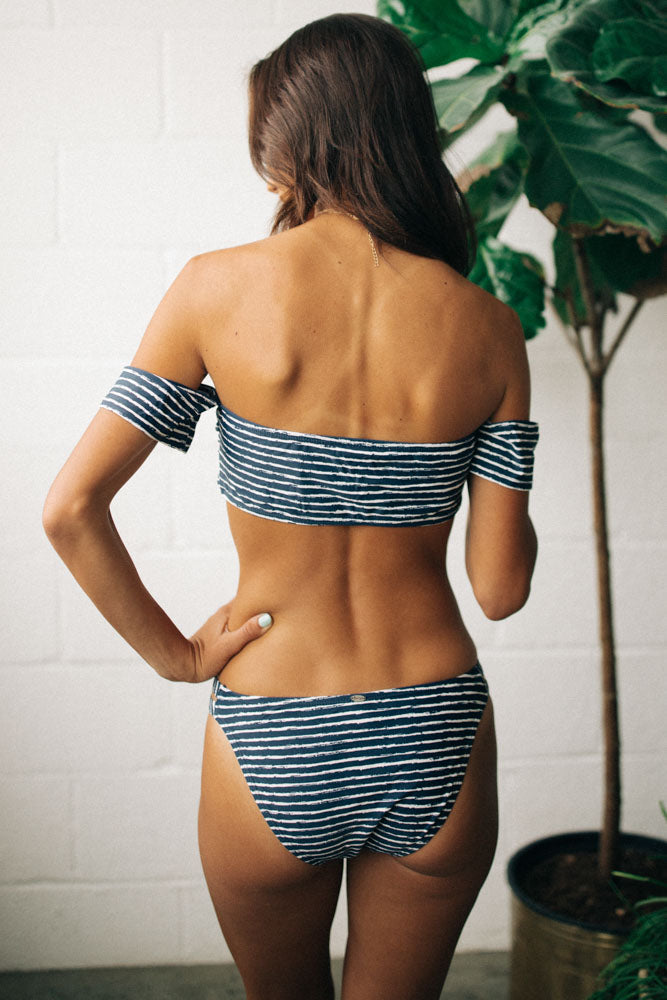Mya Striped Swim Bottom - FINAL SALE