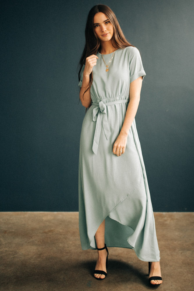 Lyanna Maxi Dress in Sage Bohme