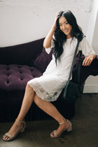 ivory lace dress bohme