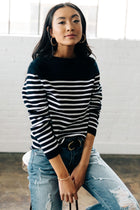navy sweater bohme