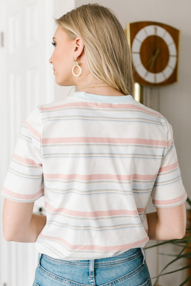pastel striped tee bohme