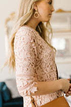 pink crochet dress bohme