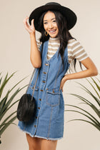 Short Sleeve Tee Denim Jumper Bohme