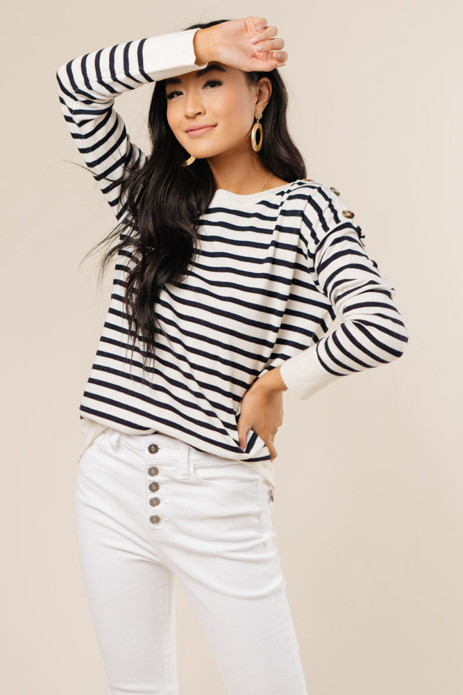Kimmy Stripe Sweater Bohme