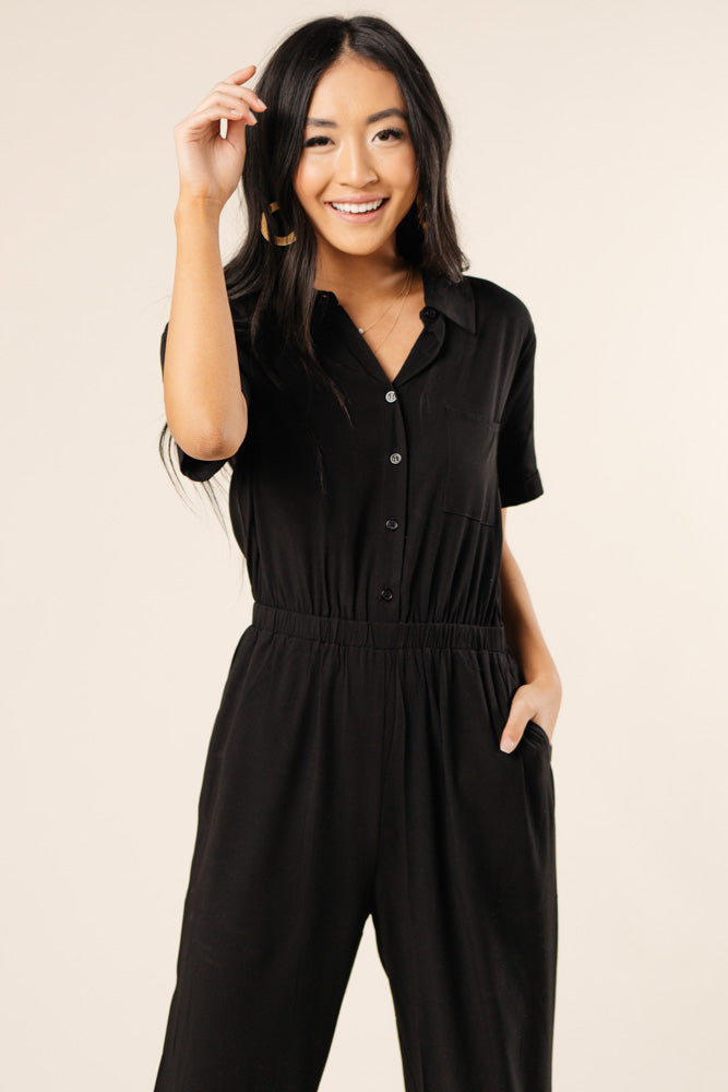 button up jumpsuit bohme