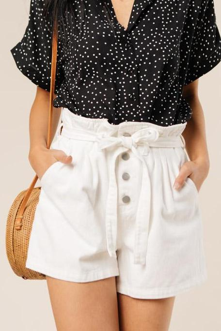 Button Up Shorts Bohme