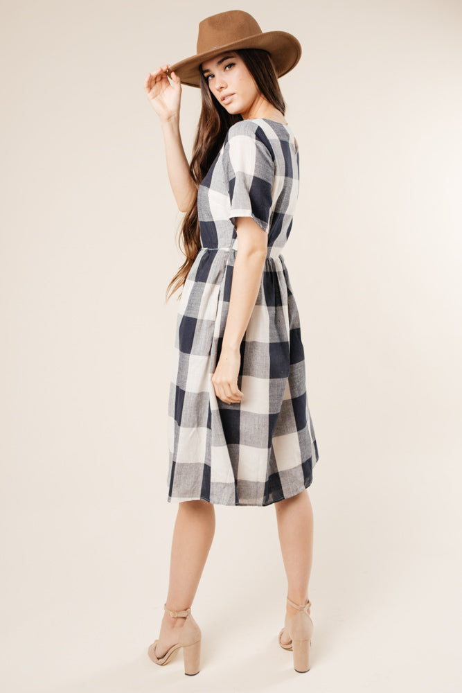 plaid dress bohme