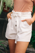 Pyper Paper Bag Shorts in White